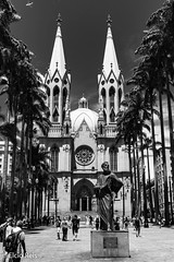 Sé Cathedral (elcio.reis) Tags: brasil sãopaulo nikon cathedral church brazil sé blackwhite pb bw catedral igreja br