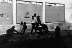 Shadow people (Leica M6) (stefankamert) Tags: shadow people shadows street film analog grain light leica m6 leicam6 summicron dr dualrange kodak trix rangefinder blackandwhite blackwhite noiretblanc noir