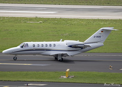 Silver Cloud Air Cessna 525A CJ2+ D-IKBO (birrlad) Tags: dusseldorf dus international airport germany aircraft aviation airplane airplanes bizjet private passenger jet taxi taxiway apron ramp dikbo cessna 525a citationjet cj2 c25a silver cloud air
