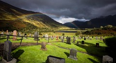The other side (Phil-Gregory) Tags: rainbow nikon d7200 tokina1120mmatx tokina gravestones light scotland scenicsnotjustlandscapes wideangle ultrawide glenshiel highlands