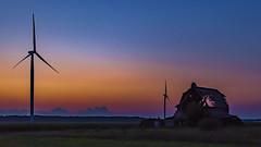Blow it down (Notkalvin) Tags: barnwindturbines turbines electricity sunset bluehour dilapidated notkalvin caseville michigan thumb farm farmland longexposure goldenhour america
