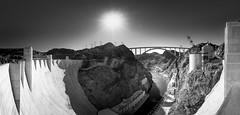 HooverPanoBW (Kevin Rodde Photography) Tags: monotone monochrome blackandwhite bw dam hooverdam bouldercity nevada panorama exposurebracket lasvegas canon kevinroddephotography kevinrodde 1740 ef1740mmf4lusm