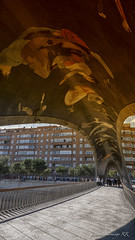 Madrid Río (José Antonio Domingo RODRÍGUEZ RODRÍGUEZ) Tags: building architecture town downtown city urban human person painting art arched arch metropolis corridor office convention center flooring pedestrian plaza square crypt madridrío madrid españa