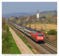 Br 101 086-7 DB - Denzlingen (CC72080) Tags: br101 db denzlingen personenzug eurocity zug locomotive lokomotive locomotiva train treno panoramic panoramique cff sbb ffs