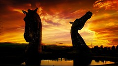 The Kelpies (Michelle O'Connell Photography) Tags: scotland thekelpies grangemouth statue horse falkirk andyscott sculpture horsesheads 2013 sunsetphotography silhouettephotography sunset dusk twilight naturephotography naturescenes nature michelleoconnellphotography thehelix