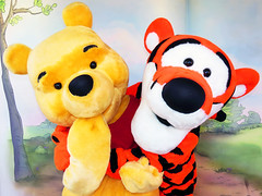 Pooh and Tigger (meeko_) Tags: winnie pooh winniethepooh bear tigger themanyadventuresofwinniethepooh characters disneycharacters fantasyland magic kingdom magickingdom themepark walt disney world waltdisneyworld florida explore