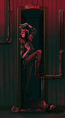 What happens in the storeroom cupbord (Ickory) Tags: illustration art horror oc hickory