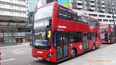 P1150172 VMH2535 LF68 PXM at Warren Street Station Hampstead Road Euston London (LJ61 GXN (was LK60 HPJ)) Tags: metroline volvob5lhybrid mcv evoseti mcvevoseti 105m 10490mm vmh2535 lf68pxm nb913