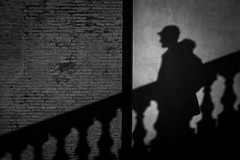 He slid between the shadows (parenthesedemparenthese@yahoo.com) Tags: dem alone bn city hiver man monochrome nb noiretblanc roma rome silhouette street textures trinitadeimonti trinitédesmonts balustrade balustre blackandwhite bnw byn canon600d december decembre ef24mmf28 escalier homme italia italy loneliness mur seul stairway streetphotography walk wall winter