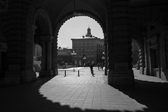 Riksgatan, Stockholm (geofana) Tags: lightsandshadows leicaq stockholm contrast blackandwhite streetphotography sweden