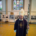 Archbishop Patrick Kelly celebrates Mass in Salford Cathedral for the '50 Faces of the Holy Land' exhibition.