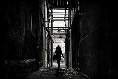 dark city (Daz Smith) Tags: dazsmith fujifilmxt3 xt3 fuji bath city streetphotography people citylife thecity urban streets uk monochrome blancoynegro blackandwhite mono alley dark silhouette woman geometric absoluteblackandwhite