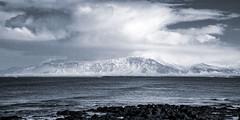 Iceland (Graeme Hoose Photographica) Tags: iceland landscape mountain seascape monochrome canon 7d tamron travel explore clouds sea reykjavik grotta seltjarnarnes