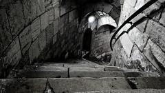 [EH] Conisbrough Castle. Spiral Downwards. Jan 2019 (SimonHX100v) Tags: conisbroughcastle englishheritage conisbrough doncaster southyorkshire yorkshireandthehumber castle england 1066 normanconquest ivanhoe sirwalterscott medieval history historic ruins gradeilistedruins historicengland scheduledmonument normans britain donvalley riverdon simonhx100v sonyhx100v hx100v sony scheduledancientmonument flag gradei gradeilisted grade1listed gradeilistedbuilding heritage nationalheritage unitedkingdom uk english greatbritain gb british blackandwhite blackwhite monochrome monotone greyscale grayscale bw bnw