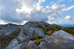 Summit of Mount Monadnock, Summer 2018 (Brooks Payne) Tags: afternoon autumn brooksbos brooks geotagged landscape light newengland nature newhampshire mountain monadnock mountmonadnock mtmonadnock hiking summit views panorama nikon clouds sky scenic valley aerial reflection reflections water summer