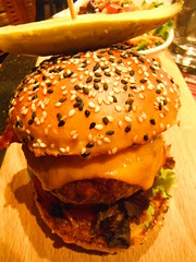 Alberta Beef Burger (Mr. Happy Face - Peace :)) Tags: foodyart2019 foodieart yummy beef bun pickle loaded burger macromondays theme