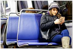 2019/029: The Subway Rider (Rex Block) Tags: nikon d750 dslr 85mm f18g washington dc metro subway seats car interior wmata woman passenger alone empty project365 365the2019edition 3652019 day29365 29jan19 cellphone distracted boots jeans jacket sockcap