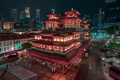 Buddha Tooth Relic Temple, Singapore (mikemikecat) Tags: ç´è² buddhatoothrelictemple historical building history architecture singapore 佛牙寺 mikemikecat lightup chinese lunar new year