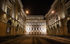 Night St. Petersburg. (Oleg.A) Tags: old exterior yellow colorful building winter night street city square architecture outdoor design saintpetersburg russia snow outdoors town санктпетербург leningradoblast ru