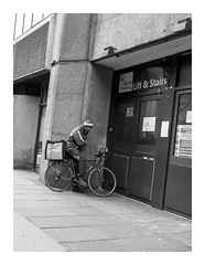 Hurry up, your pizzas getting cold, and so am I (exreuterman) Tags: london street olympus m43 micro 43 bloomsbury bw monochrome candid