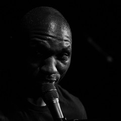 CEDRIC BURNSIDE AT THE CLUNY. (Russell Photographic Images) Tags: pentax blackandwhite monochrome livemusic thecluny newcastleupontyne smcpentaxm128100mm manualfocus