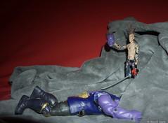 Jean-Eude vs Thanos (BenoitGEETS-Photography) Tags: jeaneude thanos figurine a6000 sony comics marvel toys jouet katana bleu azul blue blauw death mort décapitation