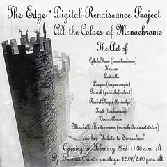 Poster Exhibition Monochrome (larisalyn (Rachel)) Tags: gallery exhibition art monchrome blackandwhite secondlife