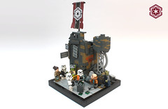 Factions: Upholding Peace and Unity (darth85) Tags: swlego lego legostarwars legosw starwars empire uquine remnant stormtrooper officer checkpoint ruin urban smuggler twilek