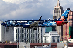 WestJet | Boeing 737-800 | C-GWSZ | Disney Mickey Mouse livery | Las Vegas McCarran (Dennis HKG) Tags: aircraft airplane airport plane planespotting canon 7d 100400 lasvegas mccarran klas las westjet wja ws boeing 737 737800 boeing737 boeing737800 cgwsz disney disneyland