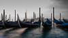 The Gently Rocking Gondolas (Aimless Alliterations) Tags: fujixf1855mm fujifilmxe2s italy venice jobygorillapod motionblur venezia italia gondolas sanmarco dawn firstlight sangiorgiomaggiore