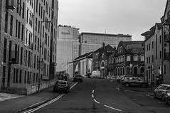 Down The Back Streets (Brian Travelling) Tags: scotland pentax pentaxdal pentaxk20d city street back glasgow partick anderson mono blackandwhite monochrome outside