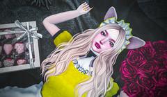 柠檬女仆 (imp朣) Tags: yellow secondlife second life red black chocolates maid cat cute wasabi insomnia angel girl