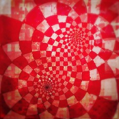 🔥 ( meditation : create pattern and order ) 🔥 while enduring radiation's steam, invite a rebuild of clean underlying order 🔥⚡️☣️☣️ (portmantō) Tags: glitch fuckcancer imaginehealth meditation focus drawing shout pattern red sacredgeometry geometry tesselation tessellation tiled tiles lattice