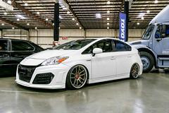 IMG_6170 (dimsumMR2) Tags: toyota prius work wheels cr2p white car show