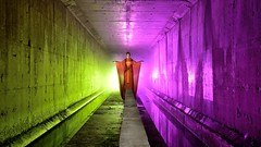 Odd-eye (palateth) Tags: lightpainting lightart night nophotoshop singleexposure urbex abandonnedplace backlight tunnel underworld dualbacklight splitcolours