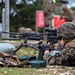 Marines fire an M249 squad automatic weapon during machine gun and heavy weapons training