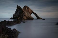 Bow Fiddle Rock (PeskyMesky) Tags: aberdeenshire scotland bowfiddlerock portknockie landscape longexposure le rock water sea ocean canon canon5d eos natural arch