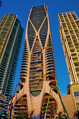 One Thousand Museum, 1000 Biscayne Boulevard, Miami, Florida, USA / Built: 2019 / Architects: Zaha Hadid Architects; ODP Architects & Interior Design / Floors: 62 / Height: 709 ft (216 m) /Structural Engineer: DeSimone Consulting Engineers (Photographer South Florida) Tags: miami florida usa miamibeach miamigardens northmiamibeach northmiami miamishores cityscape city urban downtown density skyline skyscraper building highrise architecture centralbusinessdistrict miamidadecounty southflorida biscaynebay cosmopolitan metropolis metropolitan metro commercialproperty sunshinestate realestate tallbuilding midtownmiami commercialdistrict commercialoffice wynwoodedgewater residentialcondominium dodgeisland brickellkey southbeach portmiami sobe brickellfinancialdistrict keybiscayne artdeco museumpark brickell historicalsite miamiriver brickellavenuebridge midtown sunnyislesbeach moonovermiami mimo venetiancauseway onethousandmuseum 1000biscayneboulevard built2019 zahahadidarchitects odparchitectsinteriordesign floors62 height709ft216m desimoneconsultingengineers chrislepine