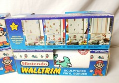North American Decorative Products Super Mario Bros Nintendo Wall Trim 06 (gamescanner) Tags: north american decorative products super mario bros nintendo wall trim covering walltrim decor sculpted vinyl border upc 058559709011 058559709035 rosewall inc 1989 sku 70902