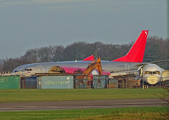 G-CELW Boeing 737-300 Freighter ex Jet2 (SteveDHall) Tags: aircraft airport aviation airfield aerodrome aeroplane airplane airliner airliners axeman scrapped scrapping scrap kemble cotswoldairport 2018 boeing b737 boeing737 b733 b737300 737 733 737300 exs ls channex gcelw freighter cargo jet2