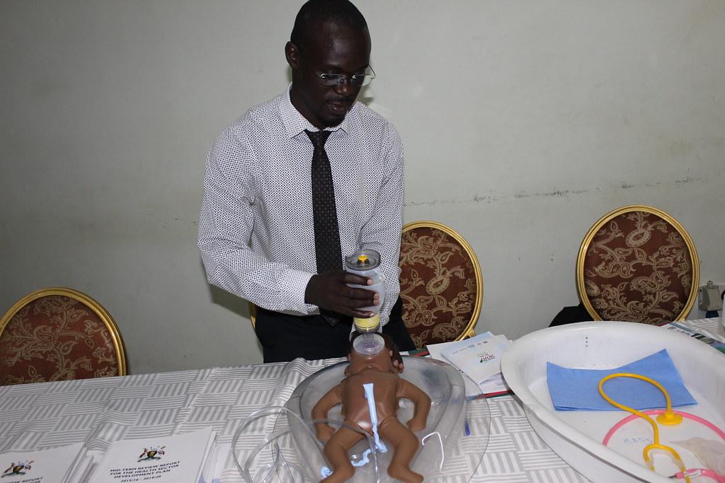 James Ditai demonstrates ventilation