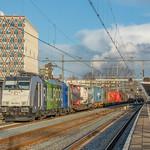 Gouda LINEAS 186 295 (Railpool regenboog) Saxionia Express 41532 naar Essen thumbnail