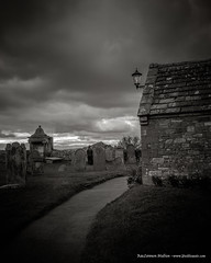 Archives (Peeblespair) Tags: england home northeast peeblespairphotography travel withandy britain lindesfarnepriory graveyard blackandwhite bw raelawsonstudios