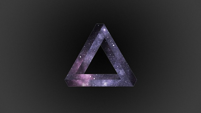 Обои треугольник, темный, фон, свет, линии, форма картинки на рабочий стол, фото скачать бесплатно