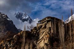 House on the Hill (Mansoor Bashir) Tags: pk pakistan gilgit gilgitbaltistan hunza karimabad altit mountains karakoram karakorams himalayas himalaya mount mountain cloudscape sky golden orange hour outdoors pinnacle snowcapped