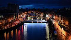 River Liffey at Night - Dublin Ireland (mbell1975) Tags: storestreet dublin ireland ie river liffey night baile átha cliath irlande du nord nordirland irlanda del island tuaisceart éireann evening water city lights bridge bridges
