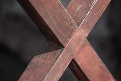 Double Edge - 19/100x (eskayfoto) Tags: canon eos 700d t5i rebel canon700d canoneos700d rebelt5i canonrebelt5i abstract lightroom 100x 100xthe2019edition 100x2019 image19100 sk201903027007editlr sk201903027007 wood wooden x cross lanzarote playablanca marinarubicon minimal fence wall shadow texture