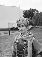 Isaac from Golden Sun - Black and White (NekoJoe) Tags: amecon amecon2018 120mediumformat 400iso 6x45 ame ame2018 animeconvention bergger berggerpancro400 blackandwhite bronica bronicarf645 closeup convention cosplay coventry england film gb gbr geo:lat=5237790879 geo:lon=156063767 geotagged goldensun isaac isaacfromgoldensun mediumformat midlands pancro uk unitedkingdom warwickartscentre cosplayer