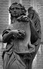 St.Paulus 3 (Phil*ippe) Tags: saint paulus church antwerp blackwhite black white tomb statue angel sword philippus paul
