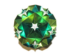 Smaragd kusudama (Vladimir Phrolov) Tags: origami kusudama modularorigami modular paper paperfolding vladimirfrolov кусудама оригами модульноеоригами бумага владимирфролов smaragdkusudama green stars